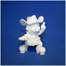 Picture of print of Cowboy Mario