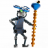 Good  Wizard Robot miniature scale 1/56  28mm. Set 1/? image