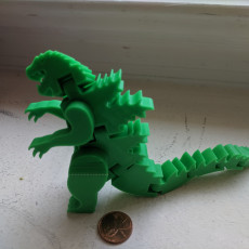 Picture of print of Flexi-Godzilla