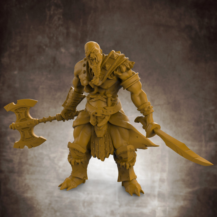 RPG Barbarian- Multipart with build options (32mm scale)