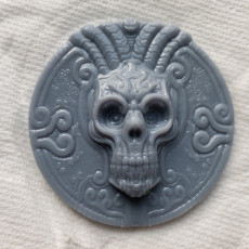 Picture of print of skull coin