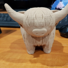 Picture of print of Highland Cow Piggy Bank