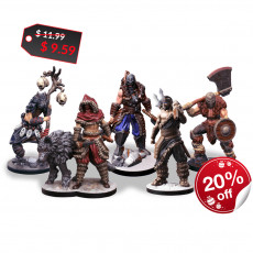 Wolf Paw Tribe Miniature Set