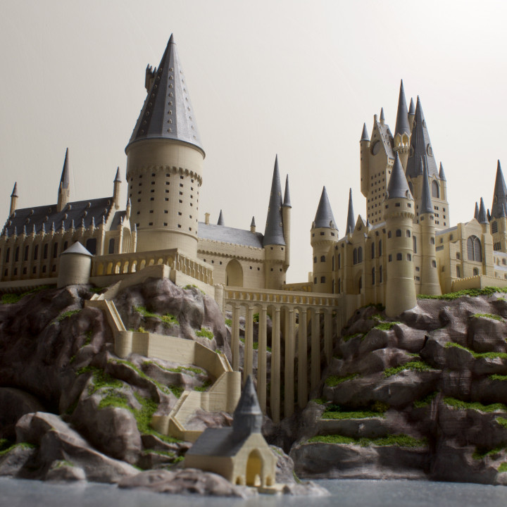 photograph relating to Hogwarts Portraits Printable known as 3D Printable Hogwarts Castle by way of Joshua Neil Arthur