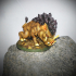 Giant Dire Boar Support Free Miniature image