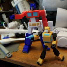 Picture of print of ARTICULATED G1 TRANSFORMERS BUMBLEBEE - NO SUPPORTS