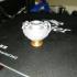 Marble strigilated vase with snake handles print image