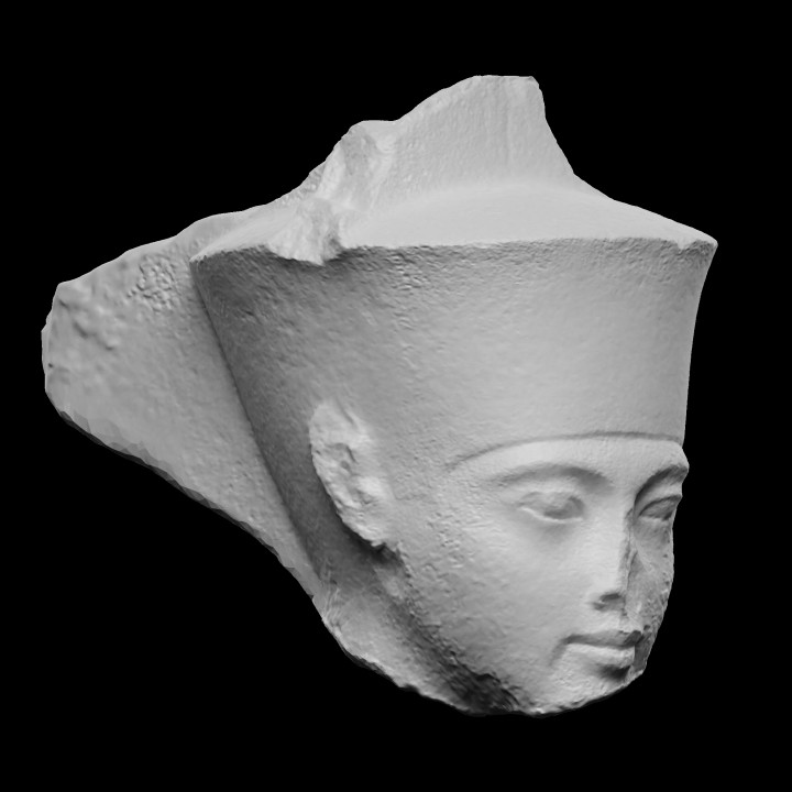 Quartzite Head of Amen with features of The Pharaoh Tutankhamen