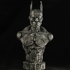 Picture of print of Bat bust