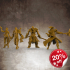 RPG Hero Miniatures Bundle (Barbarian, Fighter, Rogue, Wizard) 32mm scale image
