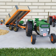 OpenRC Tractor dumper trailer