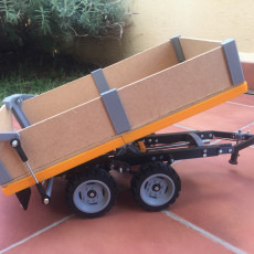 Picture of print of OpenRC Tractor dumper trailer