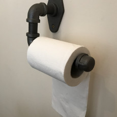 Toilet Paper Holder 3D Print (Mimic Industrial Pipe)