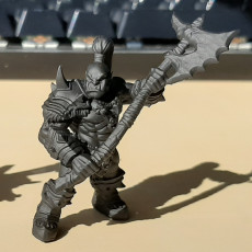 Picture of print of Orc Barbarian - B (Male) Modular