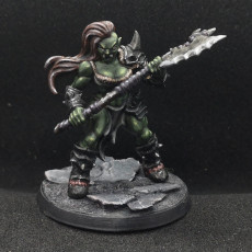 Picture of print of Orc Barbarian - C (Lady) Modular
