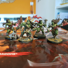 Picture of print of COMPLETE Orc Barbarians (Presupported)