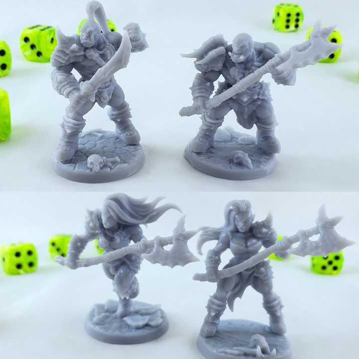 COMPLETE Orc Barbarians (Presupported)