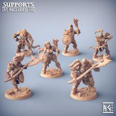 Orc Barbarians Set - 6 Modular Unit