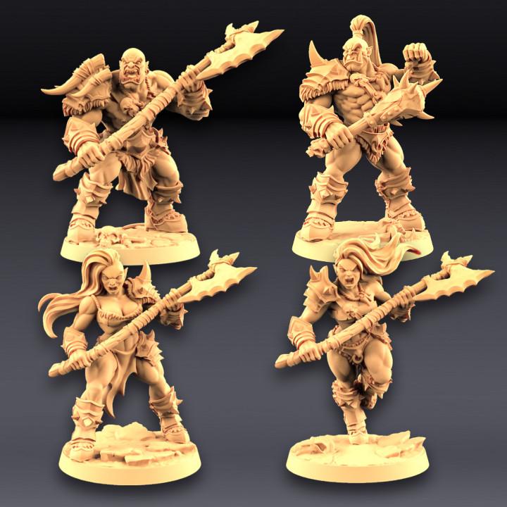 Orc Barbarians Set - 4 Modular Unit