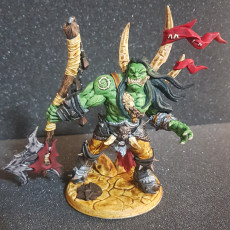 Picture of print of Throgar the Chainbreaker - Orc Barbarian Hero