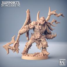 Throgar the Chainbreaker - Orc Barbarian Hero