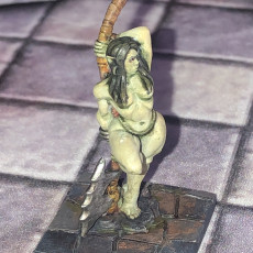 Picture of print of Yagraz - Orc Beauty (Fantasy Pin-Up)