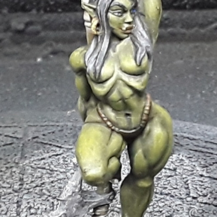 Yagraz - Orc Beauty (Fantasy Pin-Up)