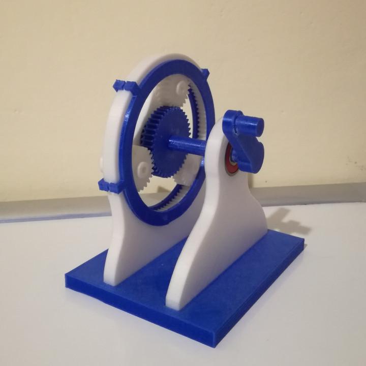 3D Printable Planetary gear box [1:3] by Lorenzo Fantini