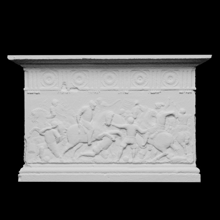 Relief of Battle, Palace of Carlos V of the Alhambra (Granada, Spain)