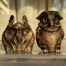 Picture of print of ornate owl