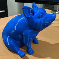 Picture of print of Piggy Sitting: Piggy Bank Version