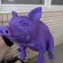 Piggy Sitting: Piggy Bank Version print image