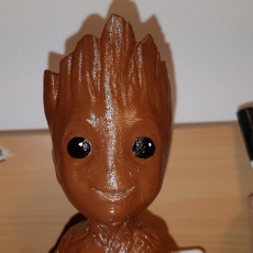 Picture of print of Sitting, Smiling, Baby Groot (Smoothed, solidified, reinforced)