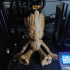 Sitting, Smiling, Baby Groot (Smoothed, solidified, reinforced) image