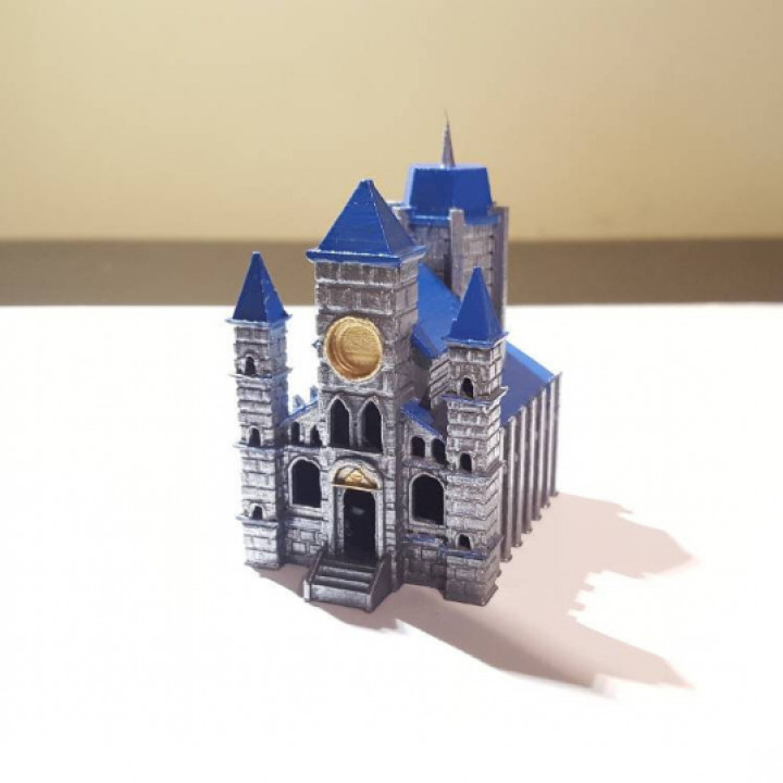 3D Printable Temple of Time miniature from Legend of Zelda