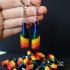 Pride rainbow bottle keychain image