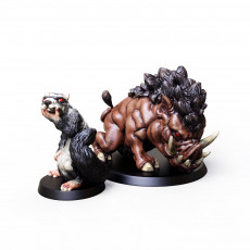 Support Free Dire Ferret and Boar