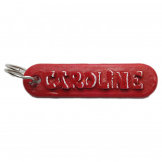 CAROLINE Personalized keychain embossed letters