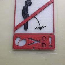 Pee prohibited Pinkeln verboten