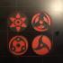 Sharingan Magnets - Printer Rotation Indicators image