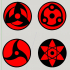 Sharingan Magnets - Printer Rotation Indicators image