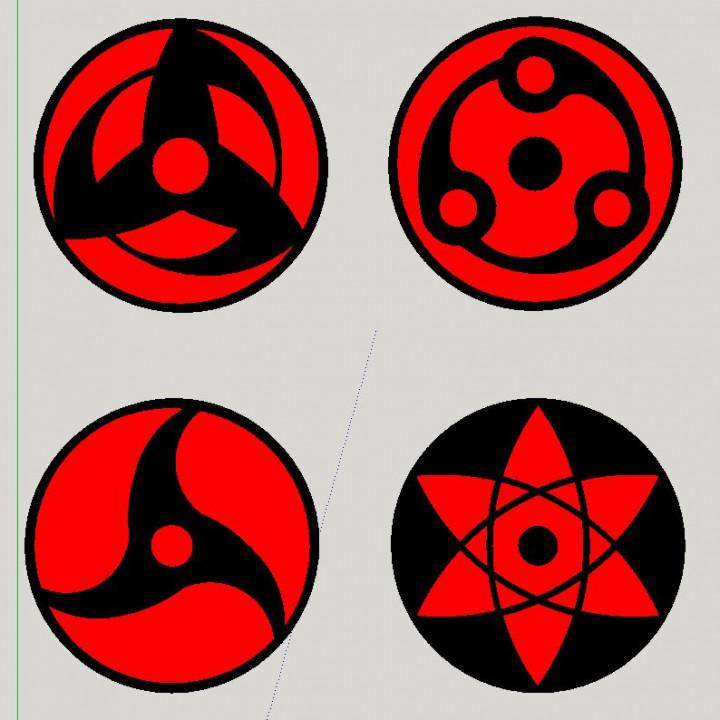 Sharingan Magnets - Printer Rotation Indicators