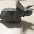 Running Triceratops print image