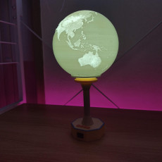 Picture of print of World Table Lamp