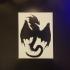 Dragon Stencil and Silhouette image