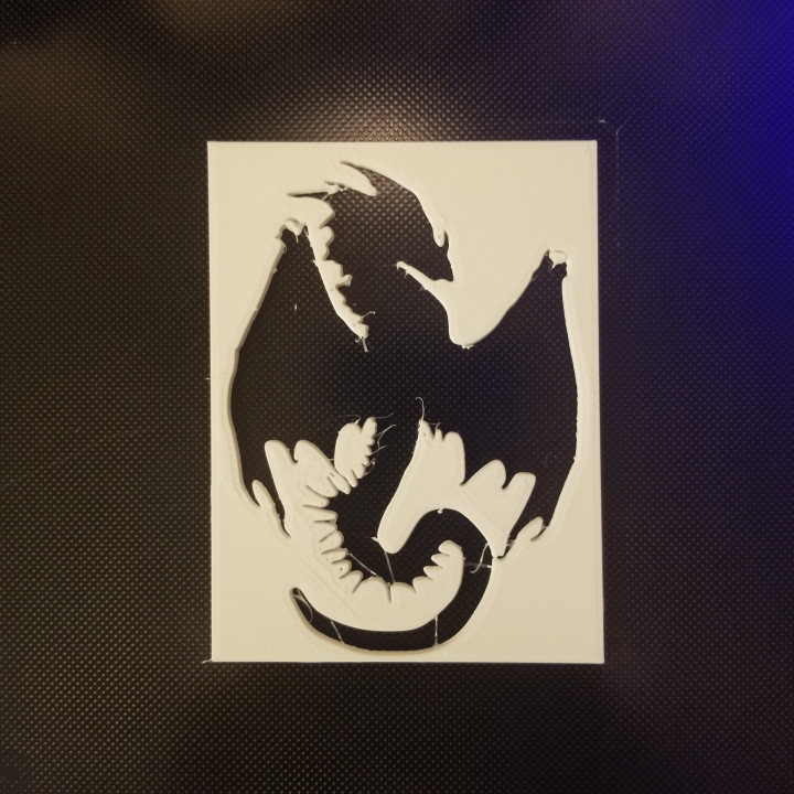 photo about Dragon Stencil Printable identified as 3D Printable Dragon Stencil and Silhouette as a result of 614 Creations