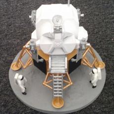 Picture of print of Apollo 11 Lunar Module