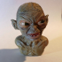 Golum bust, from Lord Of The Rings print image