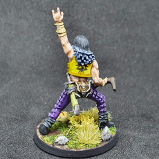 Picture of print of Human Male Bard - Metal! (32mm scale miniature)