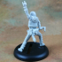 Human Male Bard - Metal! (32mm scale miniature) image